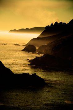 Summer sunset in Big Sur