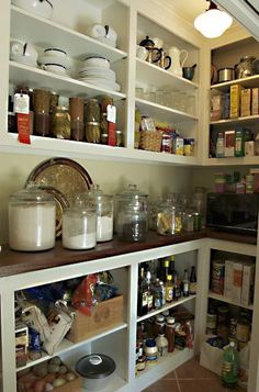 Would love a walk-in pantry with a countertop so I could leave the dehydrator, crockpot, or other small appliance running without taking up room in the kitchen.