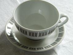 Vintage cup and saucer Porsgrund Norway by MargithVintage on Etsy, kr40.00