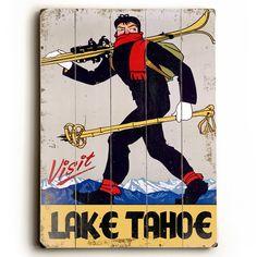 Found it at Wayfair - Visit Lake Tahoe Vintage Advertisement Plaque