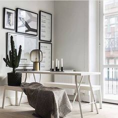 Lovely picture gallery in the dining room @breuwart on Instagram Nordic mood white interiors