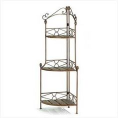 Rustic Style Metal Scrollwork Corner Bakers Rack Shelves >>> Find out more about the great product at the image link. Bedroom Furniture Redo, Kitchen Furniture, Home Furniture, Furniture Ideas, Furniture Dolly, Furniture Online, Classic Furniture, Luxury Furniture, Outdoor Furniture