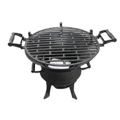 Round Cast Iron Tabletop Charcoal Barbecue