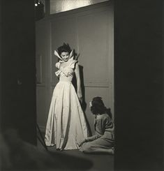 Gabrielle's Chanel portrait with a model wearing an evening gown