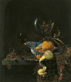Willem Kalf Still Life with a Porcelain Bowl and Nautilus Cup 1660 Oil on canvas. 64.1 x 55.9 cm Museo Thyssen-Bornemisza, Madrid INV. Nr. 202 (1930.37)