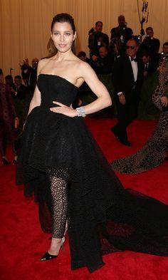 MET GALA: THE BEST DRESSES - Jessica Biel In Giambattista Valli Couture At The Met Ball 2013