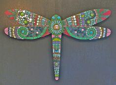 DavRah Mosaics - Mosaic Dragonfly by DavRah Mosaics, via Flickr