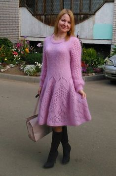 Crochet Skirts, Knit Skirt, Wool Dress, Knit Dress, Knit Cardigan Pattern, How To Make Clothes, Knit Fashion, Comfortable Outfits, Pulls