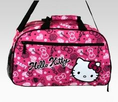 An image of Hello Kitty Overnight Bag: Squiggle, this is great for traveling and for school!!