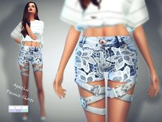Passive shorts by Apathie at TSR via Sims 4 Updates