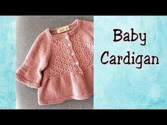 [Knitting] Baby Cardigan | Đan áo cardigan Alou cho bé - YouTube Baby Sweater Knitting Pattern, Crochet Baby Cardigan, Knit Baby Sweaters, Crochet Baby Booties, Baby Knitting, Crochet Hats, Newborn Hats, Baby Cover, Diaper Covers