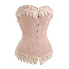Victorian Cream Corset Top - Low Price Corset Tops - Corsets - Love... (€25) ❤ liked on Polyvore featuring corsets, tops, shirts and lingerie