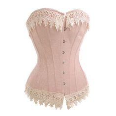 Victorian Cream Corset Top - Low Price Corset Tops - Corsets - Love Burlesque ($38) found on Polyvore