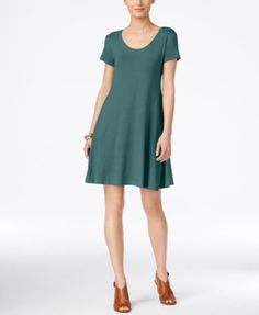 Style & Co Short-Sleeve A-Line Dress, Only at Macy's | macys.com