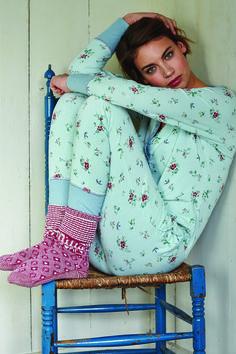 "Pip Studio ""Telma Pajama Top, Bien Floral Granny Pajama Pant & Anne Slipper Socks"""