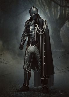 Fantasy Art Men, Fantasy Armor, Medieval Fantasy, Dungeons And Dragons Characters, Dnd Characters, Fantasy Characters, Fantasy Character Design, Character Art, Black Armor