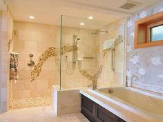 Douche à 'italienne intégrée dans la salle d'eau