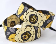 Camera Strap dSLR / SLR Aviary Bloom Citron by TheSweetStrap