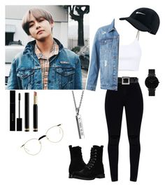 """""""× k-pop, v ×"""" by a-elar on Polyvore featuring Alexander Wang, Bulgari, LE3NO, NIKE, CLUSE, Frye and Gucci"""