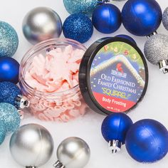 SQUIRREL Body Frosting - $12.99 From the 2014 OLD FASHIONED FAMILY CHRISTMAS - Based off National Lampoon's Christmas Vacation  This body frosting is handmade with a special LOW CHOLESTEROL recipe, so no need to worry! Eat up!  Wait...no. Don't eat body frosting - it won't end well… Let your skin enjoy this festive blend of apples, sun ripened strawberries and plums dancing with zests of orange and a splash of lime.