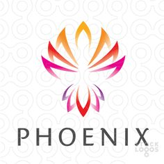 I know its a logo but its what I'm looking for Small Phoenix Tattoos, Phoenix Tattoo Design, Fenix Bird, Phoenix Painting, Stamped Business Cards, Lotus Logo, Web Design, Make Your Own Logo, Wings Logo