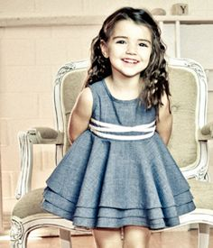 Mischka Aoki luxury brand children's clothing. Out of my price range, but this dress is very sweet. Love the high waist.