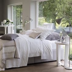 Buy Bedroom > Bed Linen > Single Row Cord Bed Linen Collection - Plum from The White Company