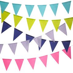 Paper Pennant Banner --could be used as a photo backdrop area