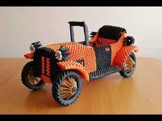 3d Origami Car от Rajat - похож на Mercedes Benz Roadster 1936 - YouTube