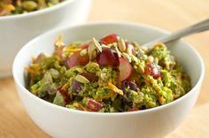 Healthy Broccoli Salad with Creamy Avocado Dressing | Get Inspired Everyday!