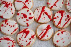Trick or Treat - halloween Splatter-cookies :)