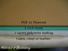 Tutorial For DIY Contemporary Upholstered Headboard With Wood Frame
