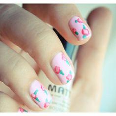 Nail art fofura florida