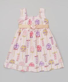 Love this Pink Lollipop Dress - Toddler & Girls on #zulily! #zulilyfinds