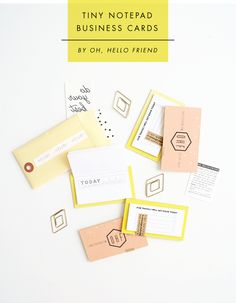 Tiny Notepad Business Cards: