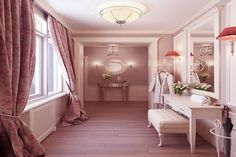 Put big curtains up around the window in hall? Vintage Apartment Interior Design Ideas by Anton Valiev Style At Home, Luxury Apartments, Luxury Homes, Hallway Decorating, Interior Decorating, Decorating Ideas, Decor Ideas, Vintage Apartment, Dressing Room Design