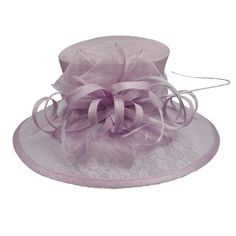 Sinamay Hat with Large Lace Brim