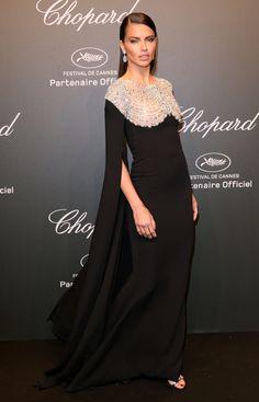 Dress by Reem Acra | Adriana Lima | Cannes 2017
