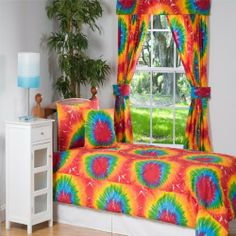 Tie Dye Dorm Full / Queen Comforter by Victor Mill by Victor Mill. $99.99. Indulge your inner hippie with this bright multi colored Tye Dye Comforter. Made in USA. 100% Cotton. Victor Mill offers collections ranging from traditional, contemporary, tropical and many other designs which allow us to meet diverse needs of today?s bedding customers. Through the use of stylish color combination, elegant, high quality fabrics, opulent trimmings and stylish textures. Victor Mill ...