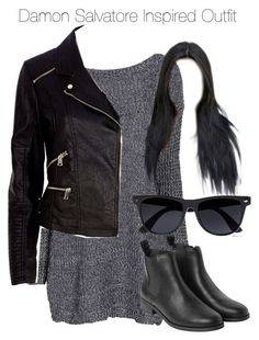 """The Vampire Diaries - Damon Salvatore Inspired Outfit"" by staystronng ❤ liked on Polyvore"