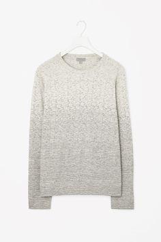 Degrade cotton sweatshirt