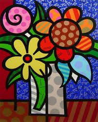 britto flower - Google Search