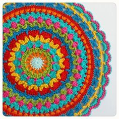 Another day, another mandala. My own pattern. Happy Monday ! #crochet #craft #yarn #amigurumi #handmade #cotton #haken #crochetlovers #crocheted #hantverk #virka #häkeln #handcraft #handarbete #hekle #catania #örgü #hekledilla #ganchillo #hekling #mandala #doily