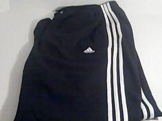 ADIDAS Mens 2 XL Blue White Sweat Pants 100% Polyester #ADIDAS #TrackSweatPants