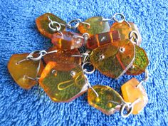 Natural Baltic amber 27.7 gr  carved beads Necklace 琥珀 Jewelry Vintage Fine #HandMade