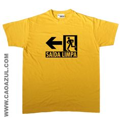 SAÍDA LIMPA t-shirt cão azul