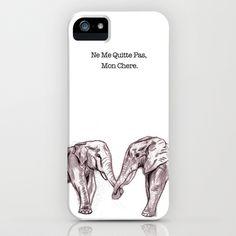 Chloe!! Look!! You'll love this!! Elephant Love iPhone Case by Katie Koop - $35.00