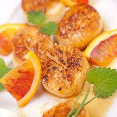 Recette Coquilles St Jacques sauce ponzu : Cuisine japonaise. Sauce, Shrimp, Food, Japanese Kitchen, Essen, Yemek, Meals