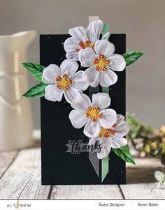 Potpourri, Handmade Thank You Cards, Karten Diy, Altenew Cards, Flower Cards, Floral Arrangements, Cardmaking, Card Stock, Birthday Cards