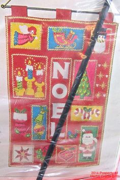 Noel Jeweled Panel Needlecraft Kit New Christmas Bucilla #1886 xf #Bucilla #ChristmasBanner  #NoelKit